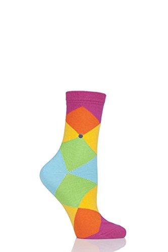 Burlington 22090 Damen 1 Paar Bonnie Baumwolle Überall Mischung Argyle Socken Multi 35-39