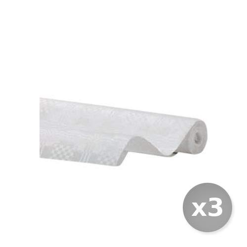 Scheda dettagliata Glooke Selected Set 3 tovaglie 100x100 stese Bianco 100 Pezzi Servizi Generali Catering stoviglie