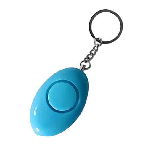 Mini Ei Form Frauen Persönliche Sicherheit Alarm Schlüsselring Anti-Angriff Sicherheit Schutz Notfall Alarm Kinder Schule Alarm - Blau