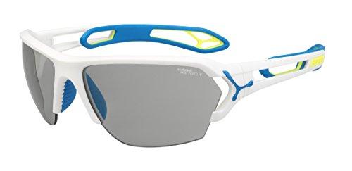 Cébé S'Track - Gafas de sol deportivas, color blanco mate / azul, talla L