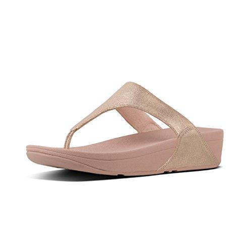 FitFlop Damen Shimmy Tm Suede Toe Thong Peeptoe Sandalen, Pink Foil 574, 39 EU -