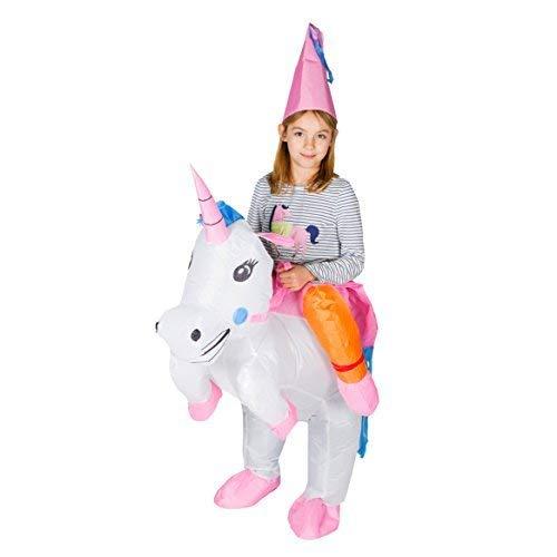 Bodysocks® Aufblasbares Einhorn Kostüm für Kinder (Pferd Fee Kostüm)