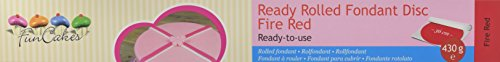 FunCakes Ausgerollte Rollfondant Disc rot -Fire red, 1er Pack (1 x 430 g)