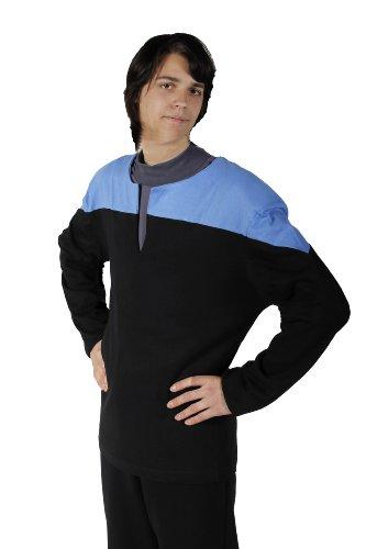 Star Trek - Voyager - Uniform Shirt - Blau Größe L - DS9 + (Kostüme Ds9 Trek Star)