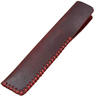 Shuxy Porte-étui en cuir Crazy Horse Housse de protection pour pochette à la main pour stylo à bille, stylet stylo tactile - Rouge foncé   Nombreux Dans La Variété