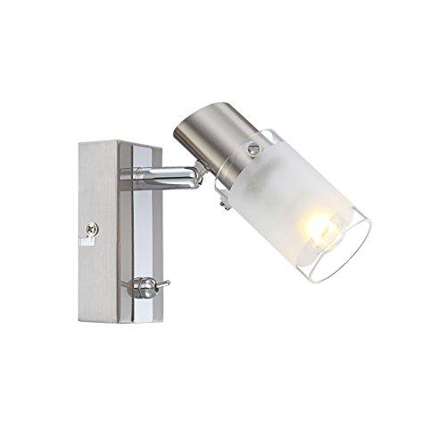 zeitlose-led-strahler-nickel-matt-chrom-glaszylinder-satiniert-rand-oben-und-unten-klar-4w-globo-jil