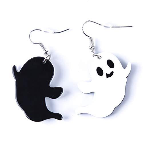 (EJY Frauen Mädchen Halloween Kürbis Anhänger Ohrringe Party Zubehör(Geist))