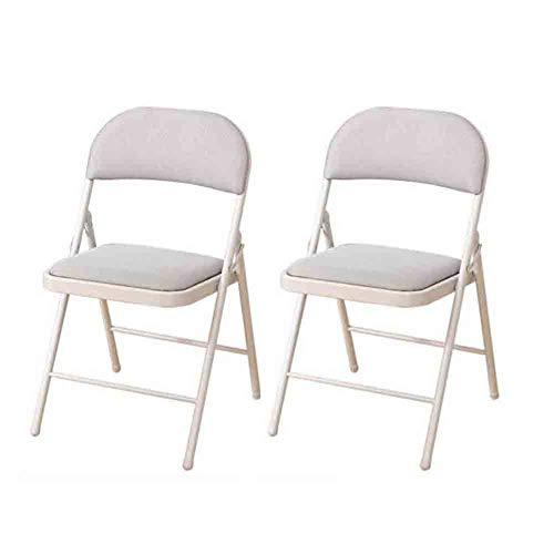 Wgxx sedie pieghevoli pieghevole conferenza staff chair mesh sedia, home office  sedia del computer, confezione da 2 (colore : gray)