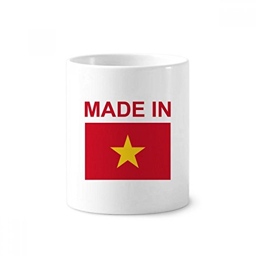 DIYthinker Hegestellt in Vietnam Land Liebe Zahnbürste Stifthalter Tasse Weiß Keramik Tasse 12...