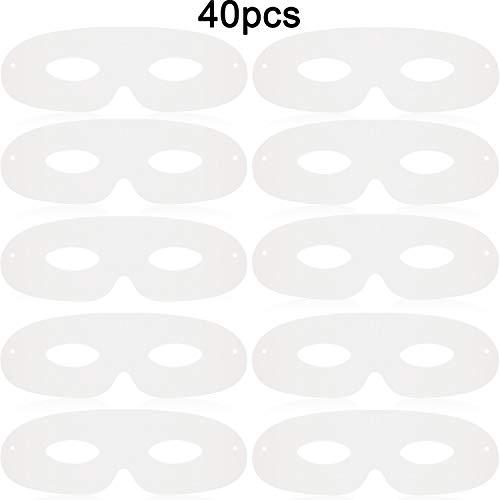 40 Stücke Gestanzte Karneval Papier Masken, Papier Augenmasken, Schlichte Maskerade Maske