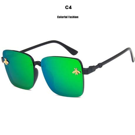 GUOTAIEUP Klassische Sonnenbrille Eyewear Eyeglasses Vintage Square Sonnenbrille Damen Sonnenbrille Big Frame Unisex Eyewear Vintage Damen Sonnenbrille Uv400Green