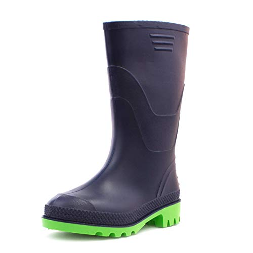 ZONE - Kids Wellington Boots in Navy and Green