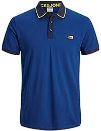 Jack & Jones Jcocharming Polo SS Noos Camisa, Peonía Azul Marino, S para Hombre