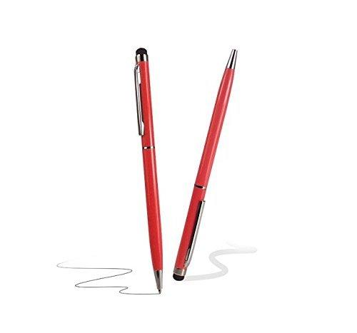 Deet® Luxus Gloss Rot Stylus Touch Screen mit Twist To Use Black Kugelschreiber