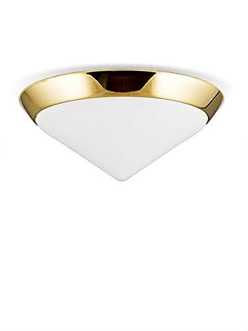 Helios Leuchten 146604 Deckenleuchte Deckenlampe Lampe Leuchte Bauhaus, echt Messing, geeignet für LED