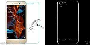 Cellwallpro combo tempered glass and soft Ultra Thin Silicon Case For Lenovo K5