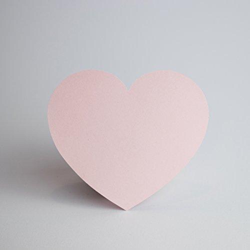 Papierherzen Rosa 100 Stück - Groß