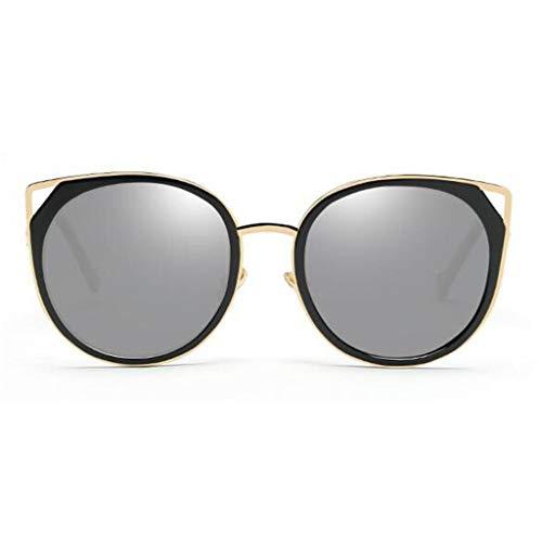 YIWU Brillen Sonnenbrille Dekorativer Spiegel Bewegung Katzenauge Straße Beat Reflektierende Vintage Reise Ultraleicht Polarisierte Licht Persönlichkeit Mode Brillen & Zubehör (Color : Gray)