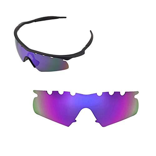 Walleva belüftet Ersatz Objektive oder Objektive mit Schwarz Nosepad für Oakley M Rahmen Hybrid Sonnenbrille-22Optionen erhältlich, Purple - Polarized