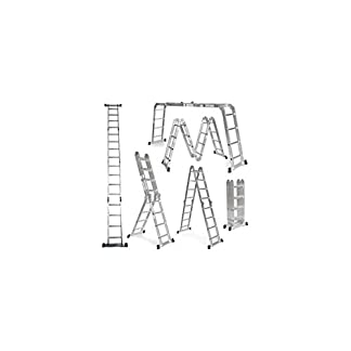 Grandmaster – Escalera Multifunción de aluminio 5,75M Plegable 6 en 1 Multiuso – AG/DLM-105