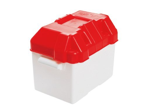 Caravan 85amp Leisure Battery Holding Box Red