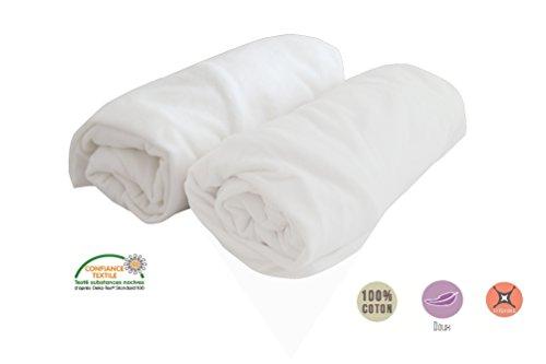 Lot Hojas 2-PMP Cubiertas maillot blanco 70x140 cm