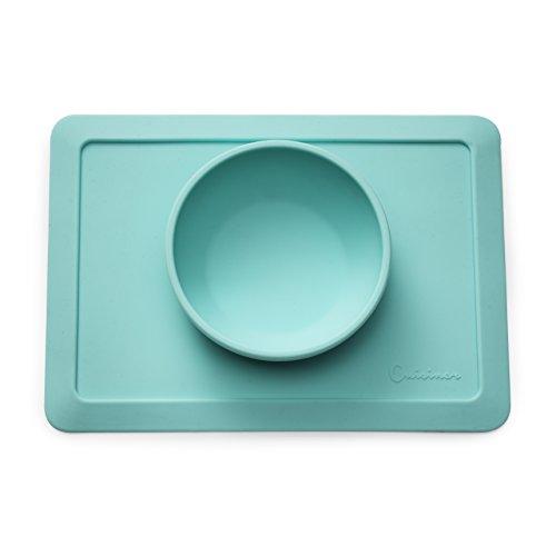 Cuisiner-Silikon-Tischunterlage-mit-Schssel-fr-BabysKleinkinder-Rutschfestes-Tischset-mit-festem-Halt-auf-IKEA-Antilop-herkmmlichen-Hochsthlen--Ohne-KleckernBPA-freiAbgeschrgte-Kanten--perfekte-Gesche