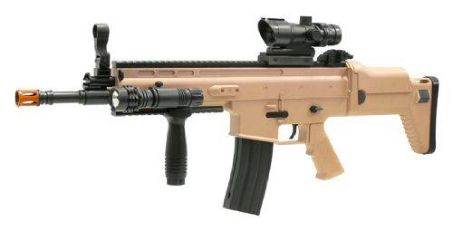 """Professionelle SCAR Softair Gewehr Deluxe Edition inkl """"Red-Dot""""-Zielfernrohr zu Nerd Clear®"""