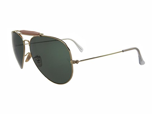Ray Ban Outdoorsman II RB3029 L2112 Gold/Green Classic 62mm Sunglasses