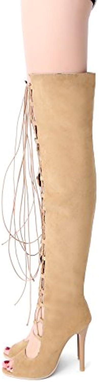 les poissons chaussures sandales bouche bouche bouche grand creux cravate long tube roFemme, abricot, 32 b07d7w1pcs parent | De Haute Qualité Et Peu Coûteux  c6c9c5