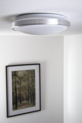 LED-Plafoniera-rotonda-bianca-1x12-watt-alluminio-spazzolato-policarbonato-IP44