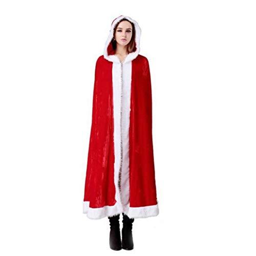 Mrs Kostüm Babys Claus - Bontand Frauen Frohe Weihnachten Frau Weihnachtsmann Roten Mantel Weihnachten Kostüm-Mantel-Kap (XL)