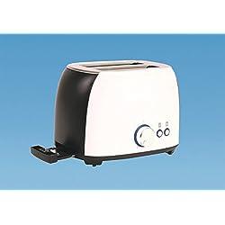 Grille-pain à 2 fentes pour caravane/camping-car Faible consommation 800W Blanc