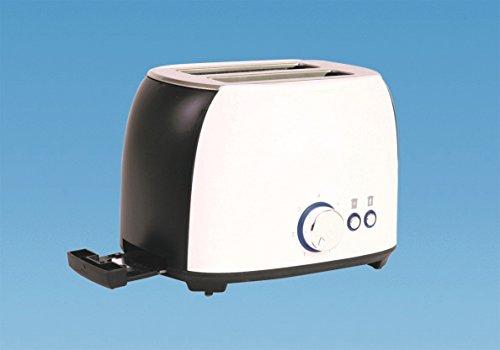 Preisvergleich Produktbild Weißer Toaster für Wohnwagen / Caravan / Wohnmobil mit niedriger Spannung von 800 W,  Cool Touch