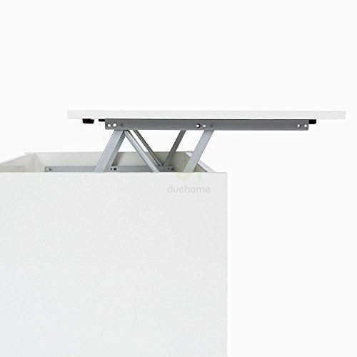 Habitdesign mesa de centro elevable acabado en melamina for Mesa elevable amazon
