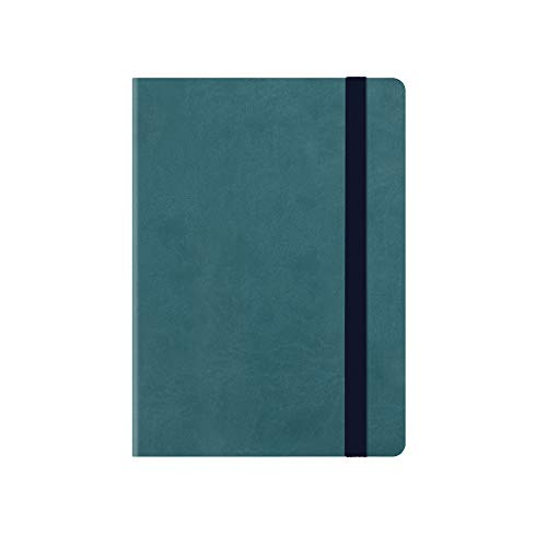 SMALL WEEKLY DIARY WITH NOTEBOOK 18 MONTH 2019/2020 - PETROL BLUE