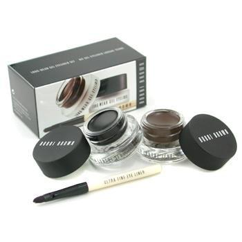 Bobbi Brown - Long Wear Gel Eyeliner Duo: 2x Gel Eyeliner 3g (Black Ink Sepia Ink) + Mini Ultra Fine Eye Liner Brush 3pcs -