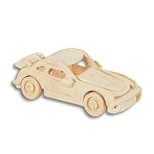 ouken 3D Holzpuzzle Gebäude Holz-Handwerk Kits Rätsel Puzzles Lernspielzeug DIY Spielzeug für Kinder und Erwachsene - Porsche Car Holz Puzzles