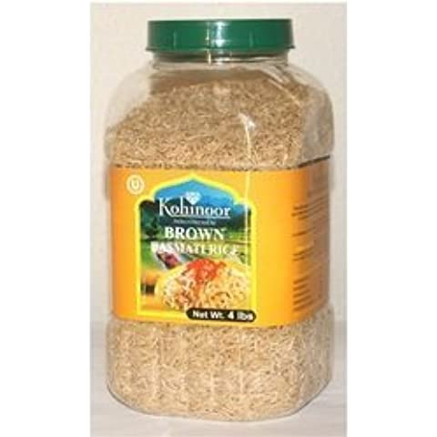 Kohinoor Basmati Rice Brown Pet Jar (4x2.2 LB) by Kohinoor