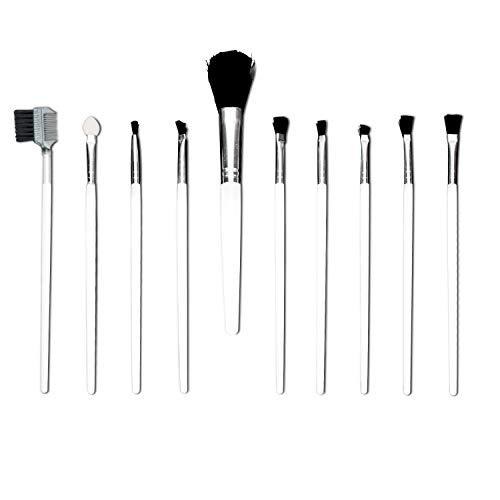 10 stücke Make-Up Pinsel Set Für Foundation Eyebrow Eyeliner Erröten Kosmetische Concealer (Farben Können Variieren Weiß / Schwarz)