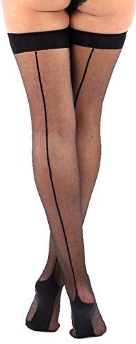 krautwear Damen Strumpfhose Offen Netzstrümpfe Halterlose Netz Straps Strümpfe Elegant Sexy Netzstrumpfhose Hoher Bund Schwarz Rot Weiss Neon Pink Grün Kostüm Fasching Karneval 80er (696-schwarz)