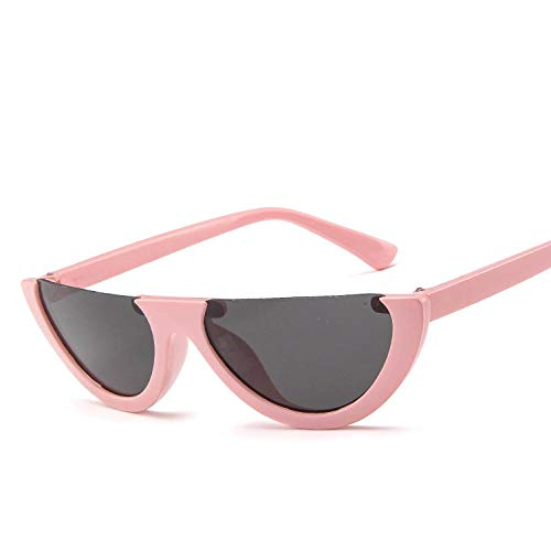 Sonnenbrillen Vintage Cat Eye Damen Sonnenbrille Halbrandlose rote Sonnenbrille Damen Trendy...