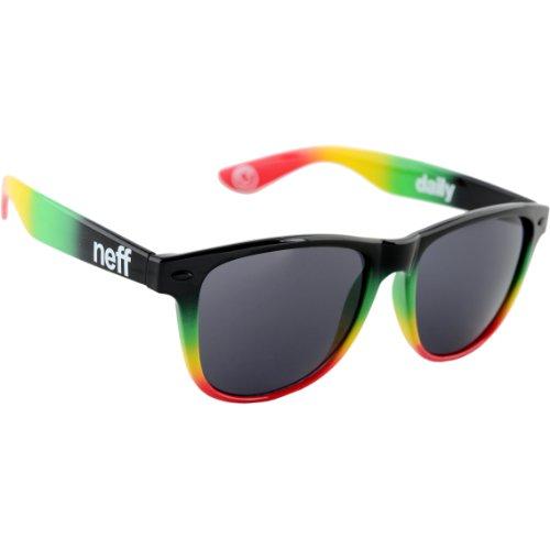 Neff Daily - Occhiali da sole, multicolore (Rasta Spray), Taglia unica