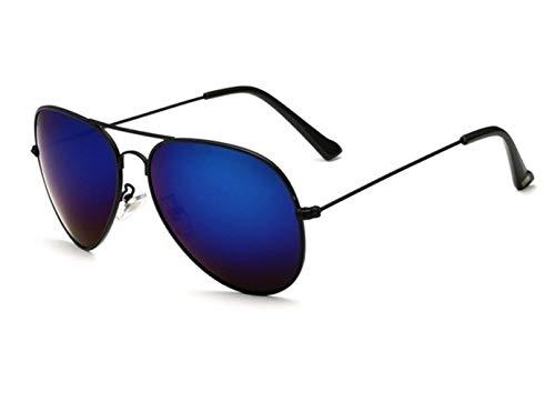 TKHCOLDM Klassische Mode polarisierte Sonnenbrille männlich/weiblich, Sonnenbrille reflektierend beschichtet Linsen, Brillenzubehör Sonnenbrille männlich/weiblich, schwarz dunkelblau