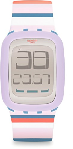Swatch Orologio Digitale Quarzo da Donna con Cinturino in Silicone SURN107