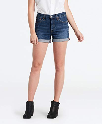 Levi's Damen 501 Long Shorts, Blau (Blue Clue 0006), W30(Herstellergröße: 30) Long Blue Denim