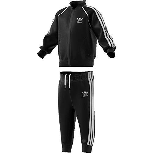 adidas Baby-Jungen Superstar Trainingsanzug, schwarz/weiß, 92 (1/2 años)