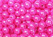 Deco-Perline diametro 10mm con euro-holes 2mm, 115Pezzi (vari colori selezionabile),
