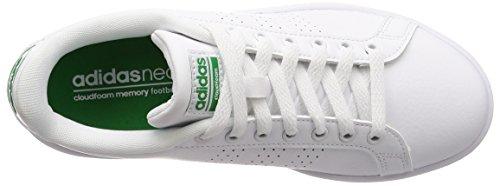 Verde Blanc Bianco 0 Homme Calzature Cestini Vantaggio Bianco Adidas Cloudfoam calzature Puliti qwH6HU