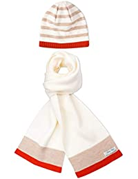 de2796c648d Pirin Hill Ensemble hiver avec écharpe et bonnet assortis en laine Mérinos  - Ruban en Polycolon